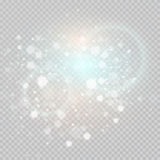 Bokeh light gray sparkles on transparency background Glowing particles element for special effects.Vector illustration Stock Photo