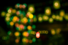 Bokeh of light with high vibrance Royalty Free Stock Photography