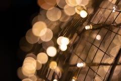 Bokeh of light with metal net