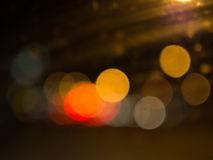 Bokeh light with mirror effect Royalty Free Stock Photo