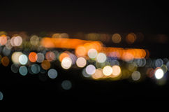 Bokeh light. Of a small town Royalty Free Stock Photography