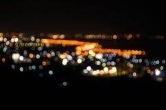 Bokeh light. Of a small town Royalty Free Stock Photos
