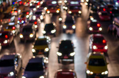 Bokeh from  light on the traffic road Stock Photography