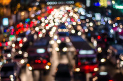 Bokeh from  light on the traffic road Stock Photos