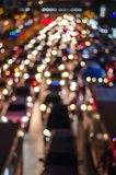 Bokeh from light on the traffic road Stock Images