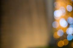 Bokeh light vintage background. At night Royalty Free Stock Photo