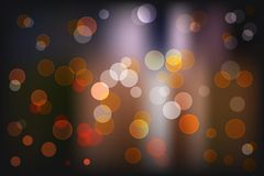 Bokeh light vintage background, Vector eps10 Royalty Free Stock Photo
