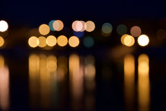 Bokeh lights as abstract night background Stock Image