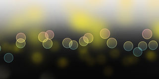 Bokeh lights. As background on black Stock Photography