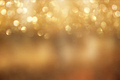 Bokeh lights background with mixed brown and yellow warm earthly colors Royalty Free Stock Image
