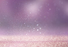 Bokeh lights background with multi layers and colors of white silver and gold Royalty Free Stock Photo