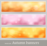 Bokeh lights banner Stock Photos