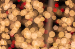 Bokeh lights. Beautiful Christmas background Stock Photo
