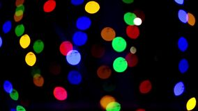 Bokeh lights. Beautiful Christmas background. Christmas and New Year. Christmas light background Festive abstract