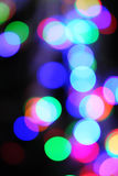 Bokeh lights on black Royalty Free Stock Photos
