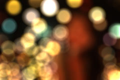 Bokeh lights on black background Royalty Free Stock Images