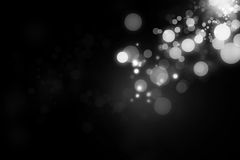 Bokeh and lights. On black background Royalty Free Stock Image