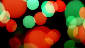 Bokeh lights blinking stock footage