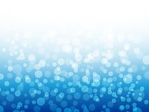Bokeh lights on blue background. Winter design. Blue abstract christmas background. Vector illustration Royalty Free Stock Photos