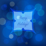 Bokeh lights Christmas background. Defocused holiday design. Abstract vector Royalty Free Stock Photography