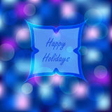 Bokeh lights Christmas background. Defocused holiday design. Abstract vector Royalty Free Stock Photo