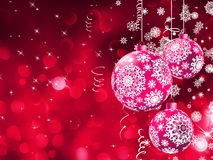 Bokeh lights and Christmas balls. EPS 10. Merry Christmas background with stars, bokeh lights and Christmas balls. And also includes EPS 10 Stock Photo