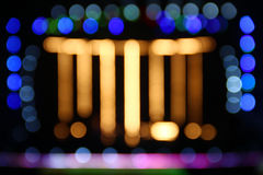 Bokeh lights of concert stage Stock Images