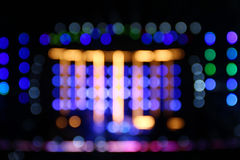 Bokeh lights of concert stage Stock Photo