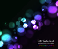 Bokeh  lights effects. On black background Royalty Free Stock Photo