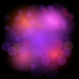 Bokeh lights festive background. Abstract background with circles. Design background in colored light spots.. Vector disco background. Beautiful vector light Stock Photo