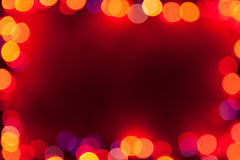 Bokeh lights frame Royalty Free Stock Photo
