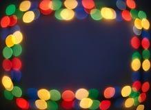 Bokeh lights frame Stock Photography