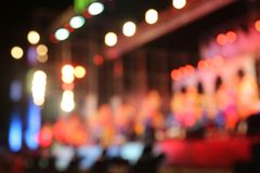 Bokeh from the lights at night and blurry. royalty free stock photography