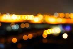 Bokeh lights in the night Royalty Free Stock Photography