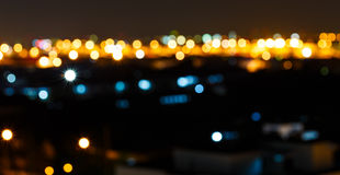 Bokeh lights in the night Royalty Free Stock Images