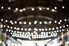 Bokeh lights a row Stock Photos