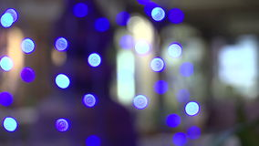 Bokeh lights stock video footage