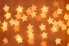 lights of the stars yellow royalty free stock photography