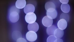 Bokeh lights violet. Bokeh lights decoration background. Violet color stock video