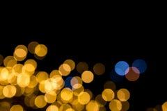 Bokeh ljus bakgrund Fotografering för Bildbyråer