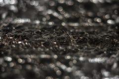 Bokeh ljus blänker abstrakt tappning på svart bakgrund Royaltyfri Bild