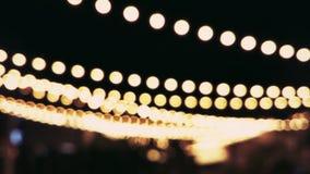 Bokeh ljus i natt Fotografering för Bildbyråer