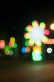 Bokeh ljushändelse på natten Royaltyfri Foto