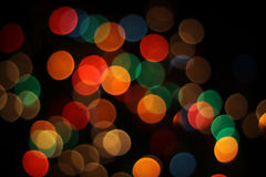 Bokeh - luces enmascaradas flamas de la lente Foto de archivo