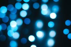 Bokeh luminoso delle luci blu Fotografie Stock