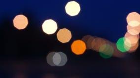 Bokeh, luz de Defocus en camino metrajes