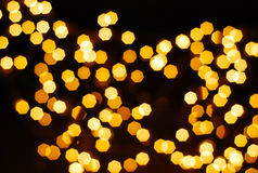 bokeh of many orage lamp Royalty Free Stock Images