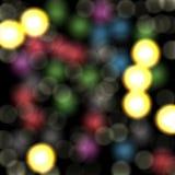 Bokeh med ljus, abstrakt bakgrund Royaltyfri Foto