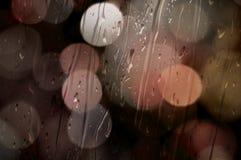 Bokeh met Regen Stock Fotografie