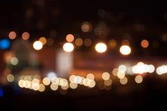 Bokeh miast światła Zdjęcia Royalty Free